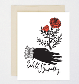 """With Sympathy"" Greeting Card - Hello Lucky"
