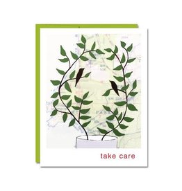 """Take Care"" Greeting Card by Rachel Austin"
