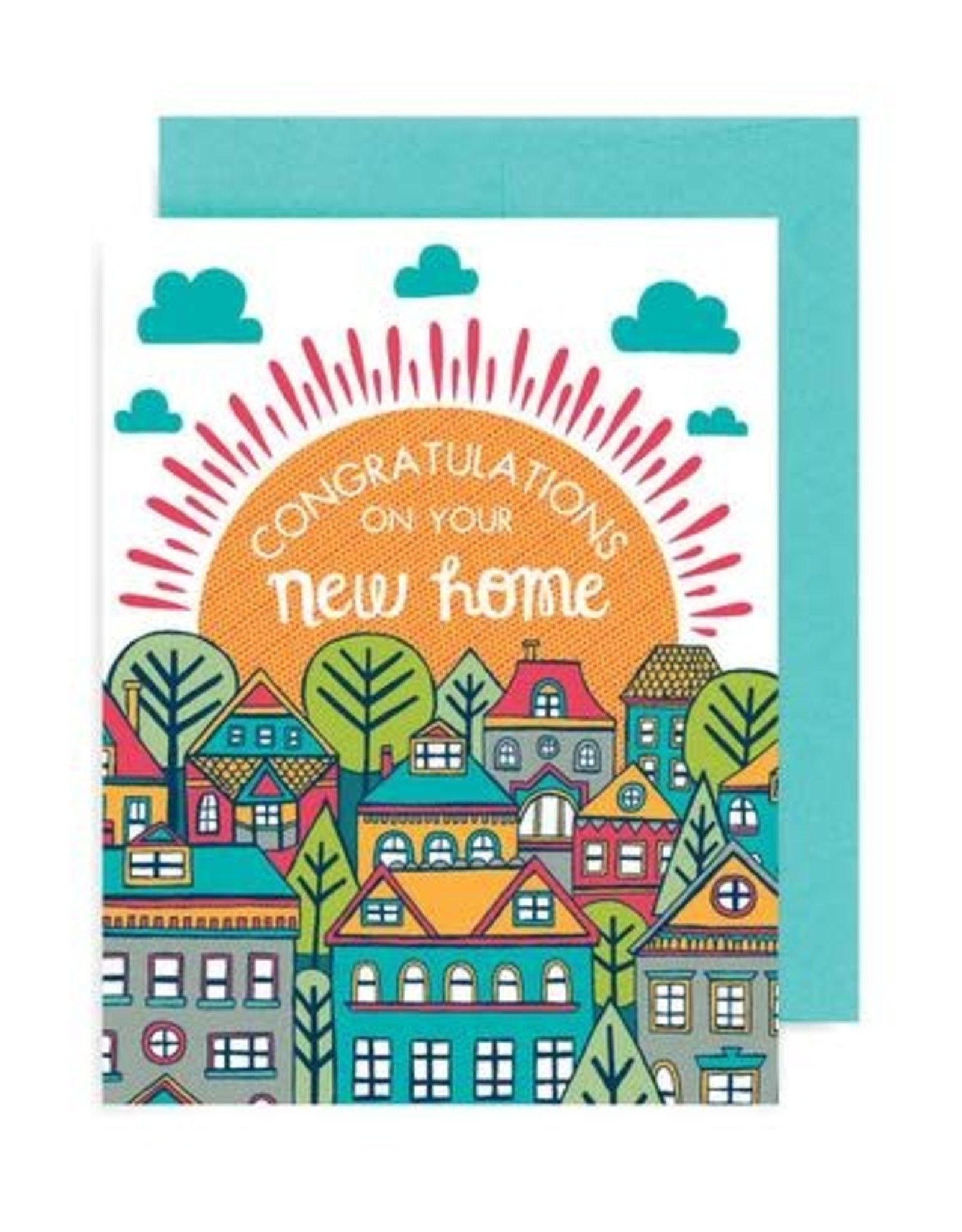 """Allison Cole """"Congratulations on Your New Home"""" Greeting Card - Allison Cole"""