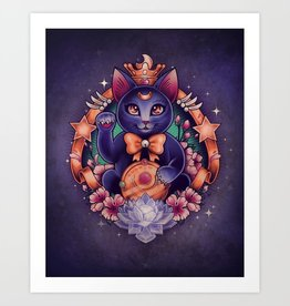 """Maneki Luna"" Art Print by Megan Lara"