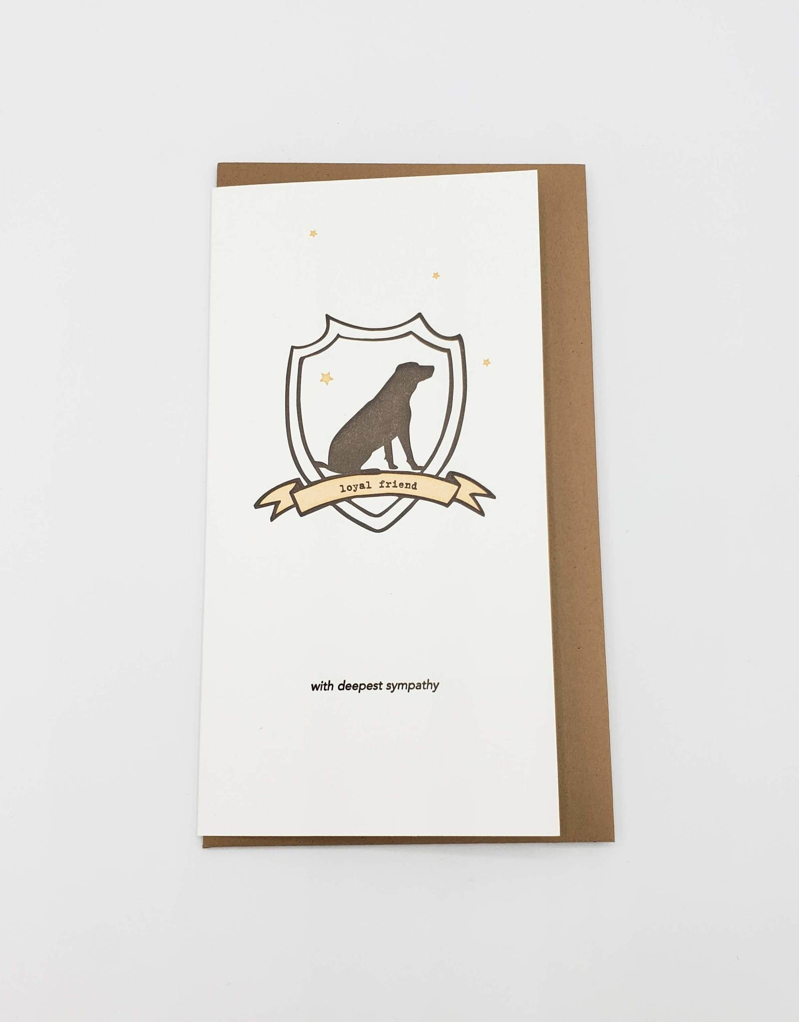 """Loyal Friend"" Pet Loss Greeting Card - Lark Press"