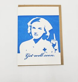 """Get Well Soon"" Greeting Card - Blue Barnhouse"