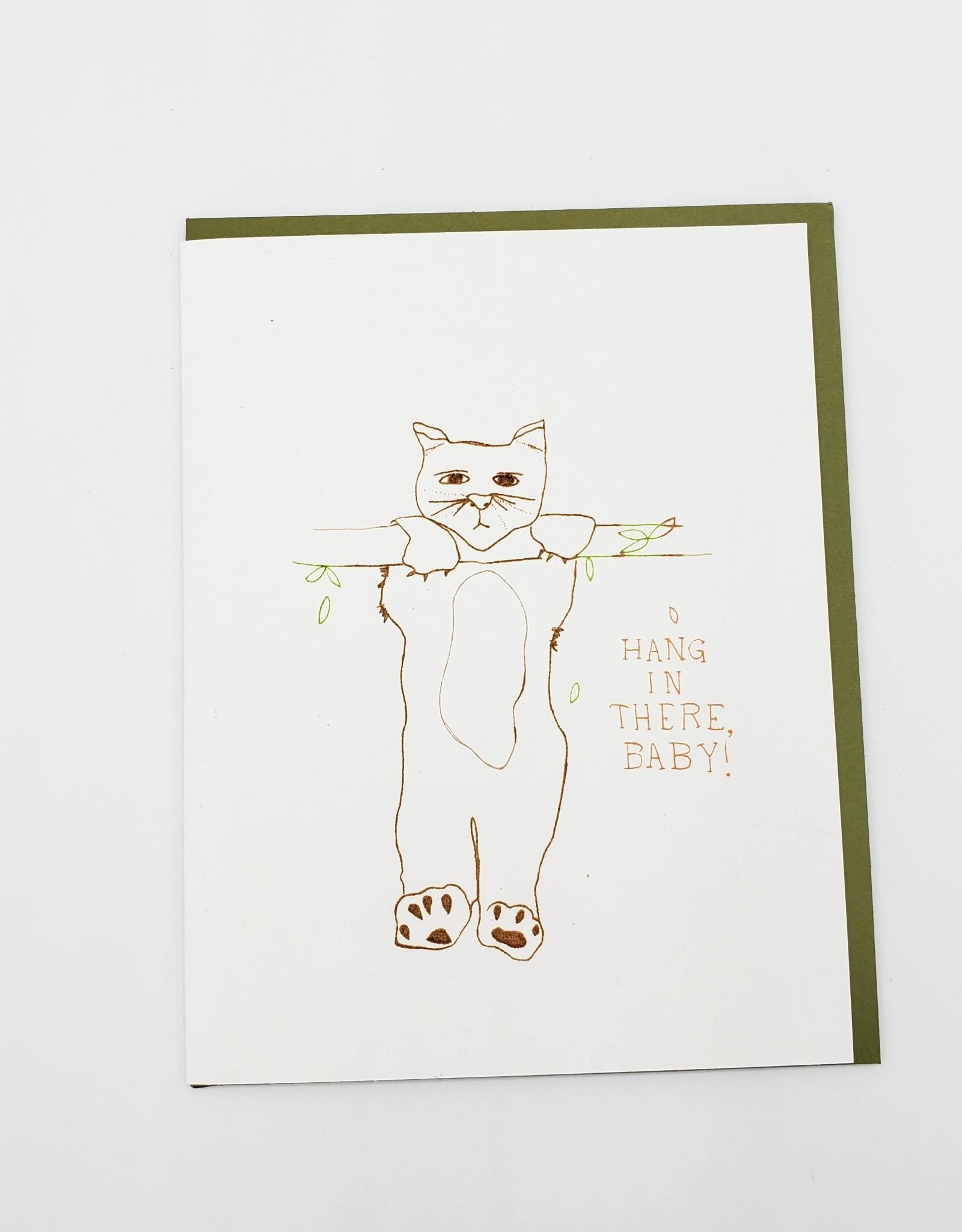 """""""Hang In There Baby"""" Sympathy Greeting Card - The Great Lakes"""