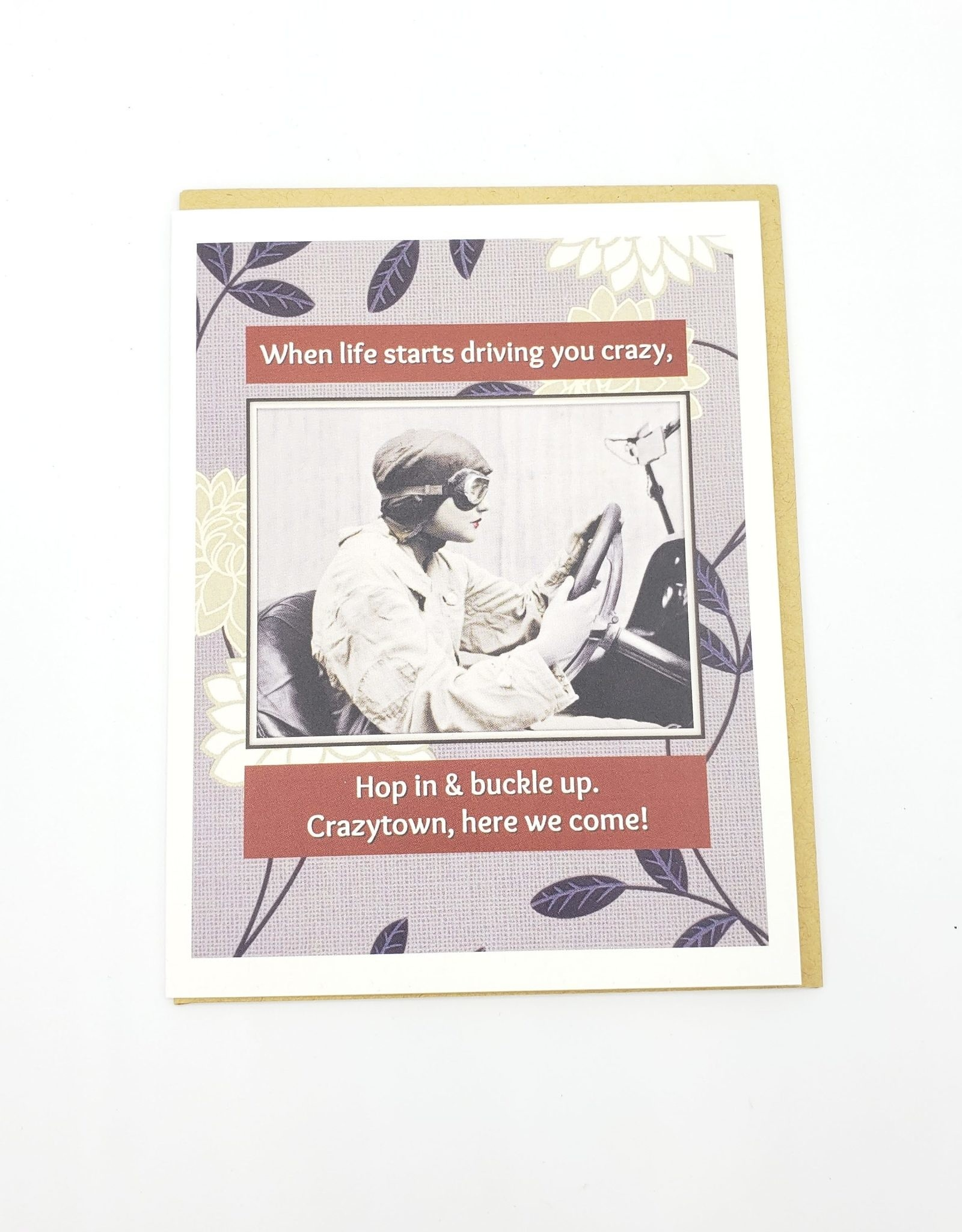 """When Life Starts Driving You Crazy"" Sympathy Greeting Card - Umlaut Brooklyn"