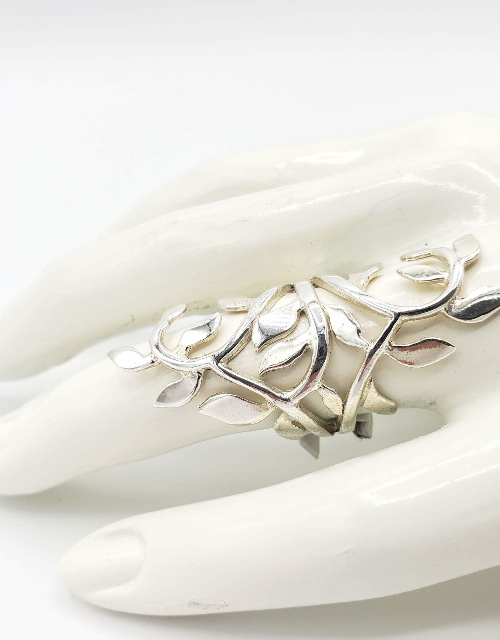 Tiger Mountain Branches and Leaves Statement Ring, Sterling Silver