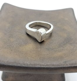 Peter James Jewelry Horseshoe Nail Square Ring, Sterling Silver