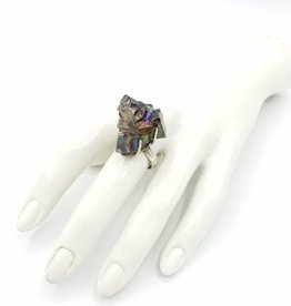 Galaxy Quartz Crystal Ring, Sterling Silver