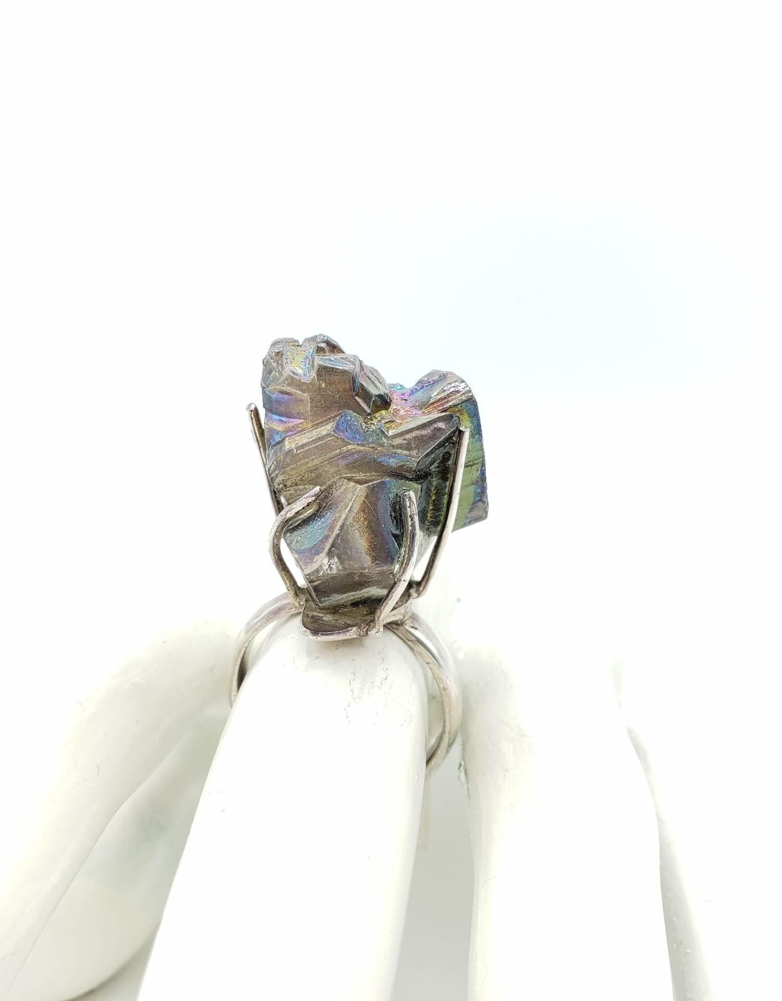 Galaxy Quartz Crystal Ring, Sterling Silver