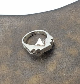Amautas Ring, Cast Sterling Silver