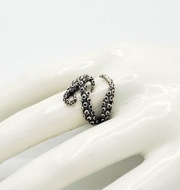 Tiger Mountain Octopus Tentacle Wrap Ring, Sterling Silver