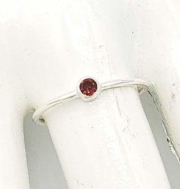 Tiger Mountain Garnet Stacking Ring, Sterling Silver