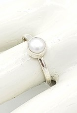 Tiger Mountain Pearl Stacking Ring, Sterling Silver