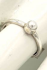 Tiger Mountain Minnie Pearl Stacking Ring, Sterling Silver