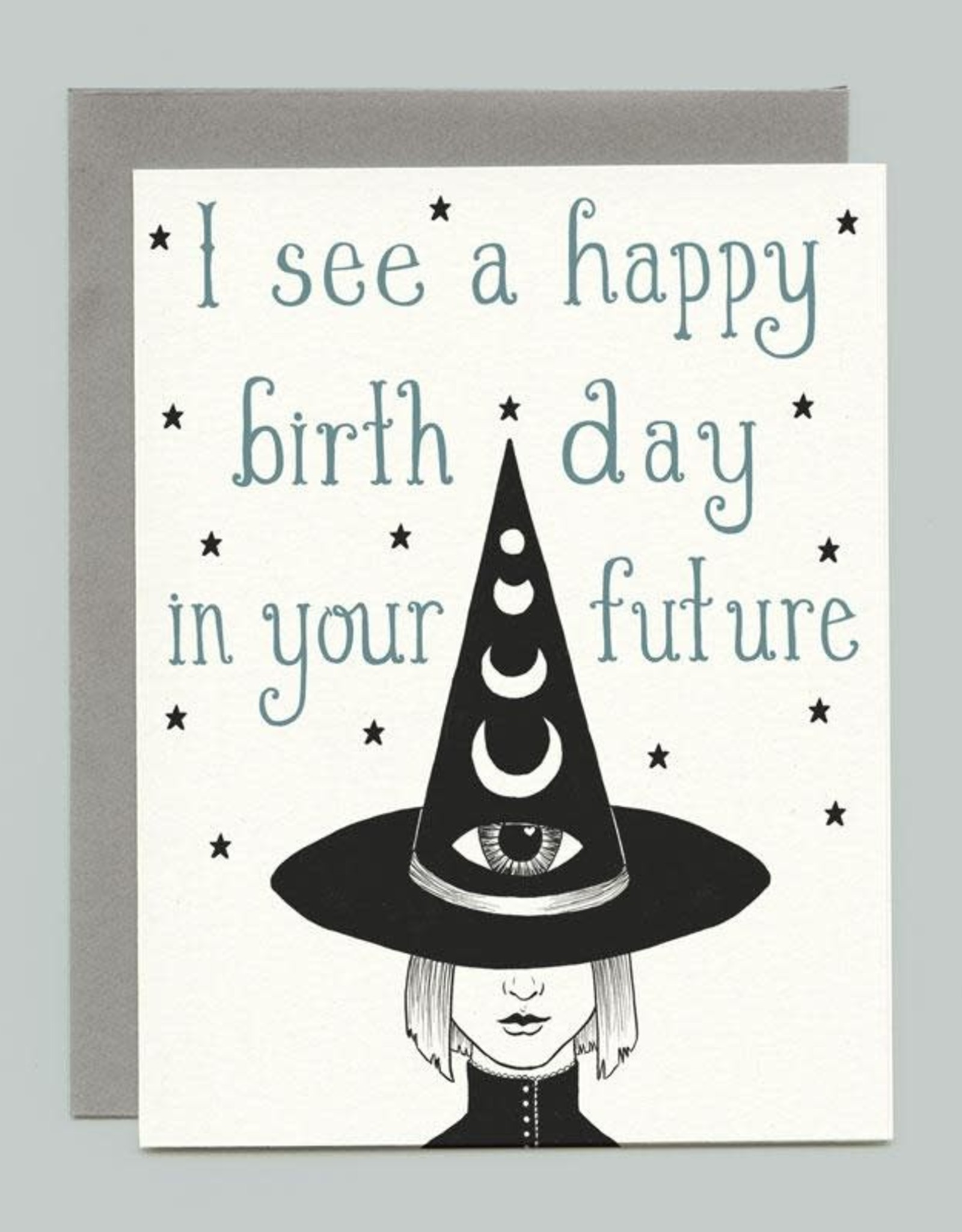 """Bee's Knees Industries """"Third Eye Witch"""" Birthday Greeting Card - Bee's Knees"""