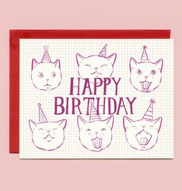 "Bee's Knees Industries ""Birthday Cats in Hats"" Birthday Greeting Card - Bee's Knees"