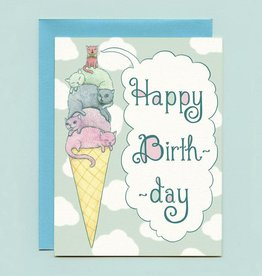 "Bee's Knees Industries ""Ice Cream Cats"" Birthday Greeting Card - Bee's Knees"