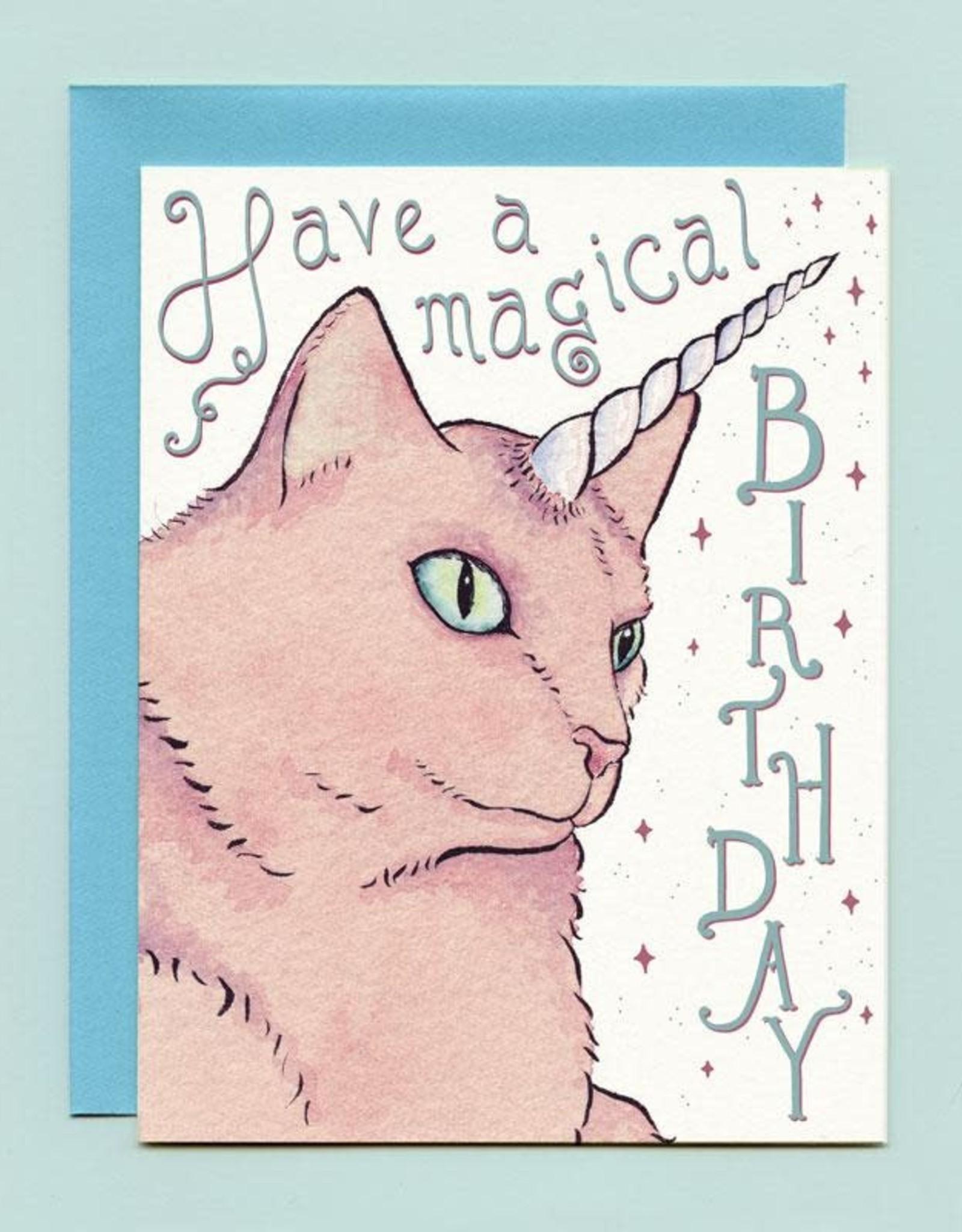 "Bee's Knees Industries ""Caticorn"" Birthday Greeting Card - Bee's Knees"