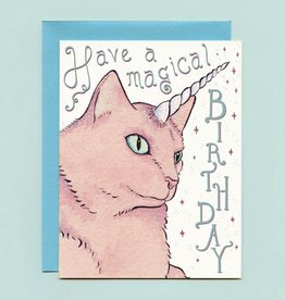 "Bee's Knees Industries ""Caticorn"" Birthday Greeting Card - Bee's Knees"