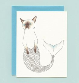 "Bee's Knees Industries ""Purrmaid"" Greeting Card - Bee's Knees"