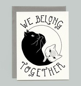 "Bee's Knees Industries ""We Belong Together"" Yin Yang Cats Greeting Card - Bee's Knees"