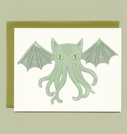 "Bee's Knees Industries ""Cat-thulhu""  Greeting Card - Bee's Knees"
