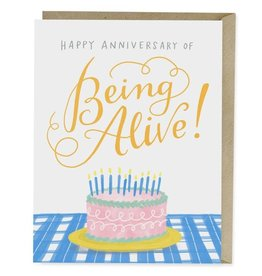 "Emily McDowell ""Happy Anniversary of Being Alive"" Birthday Greeting Card - Emily McDowell"