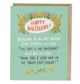 "Emily McDowell ""Losing Shoes"" Birthday Greeting Card - Emily McDowell"