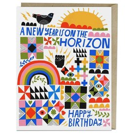 "Emily McDowell ""A New Year Is On The Horizon"" Birthday Greeting Card - Lisa Congdon"
