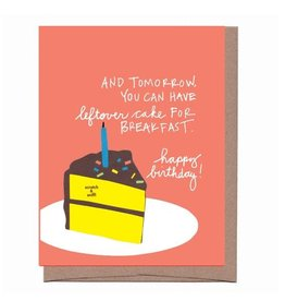 """Leftover Cake"" Scratch & Sniff Greeting Card - La Familia Green"