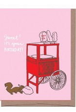 """""""Cotton Candy"""" Scratch & Sniff Greeting Card - La Familia Green"""