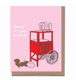 """Cotton Candy"" Scratch & Sniff Greeting Card - La Familia Green"