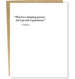 """Sleeping Person'' Greeting Card - Sapling Press"