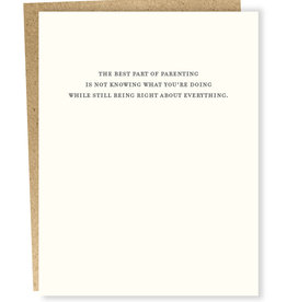 """Best Part of Parenting'' Greeting Card - Sapling Press"