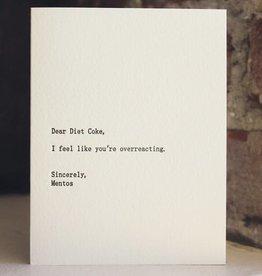"""Dear Diet Coke'' Greeting Card - Sapling Press"