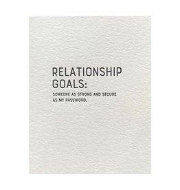 """Relationship Goals'' Greeting Card - Sapling Press"