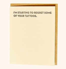 """""""I'm Starting to Regret'' Greeting Card - Sapling Press"""