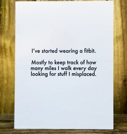 """""""I've Started Wearing a Fitbit"""" Greeting Card - Lady Pilot Letterpress"""