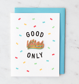 "Valley Cruise Press ""Good Vibes Only"" Greeting Card + Enamel Pin - Valley Cruise Press"