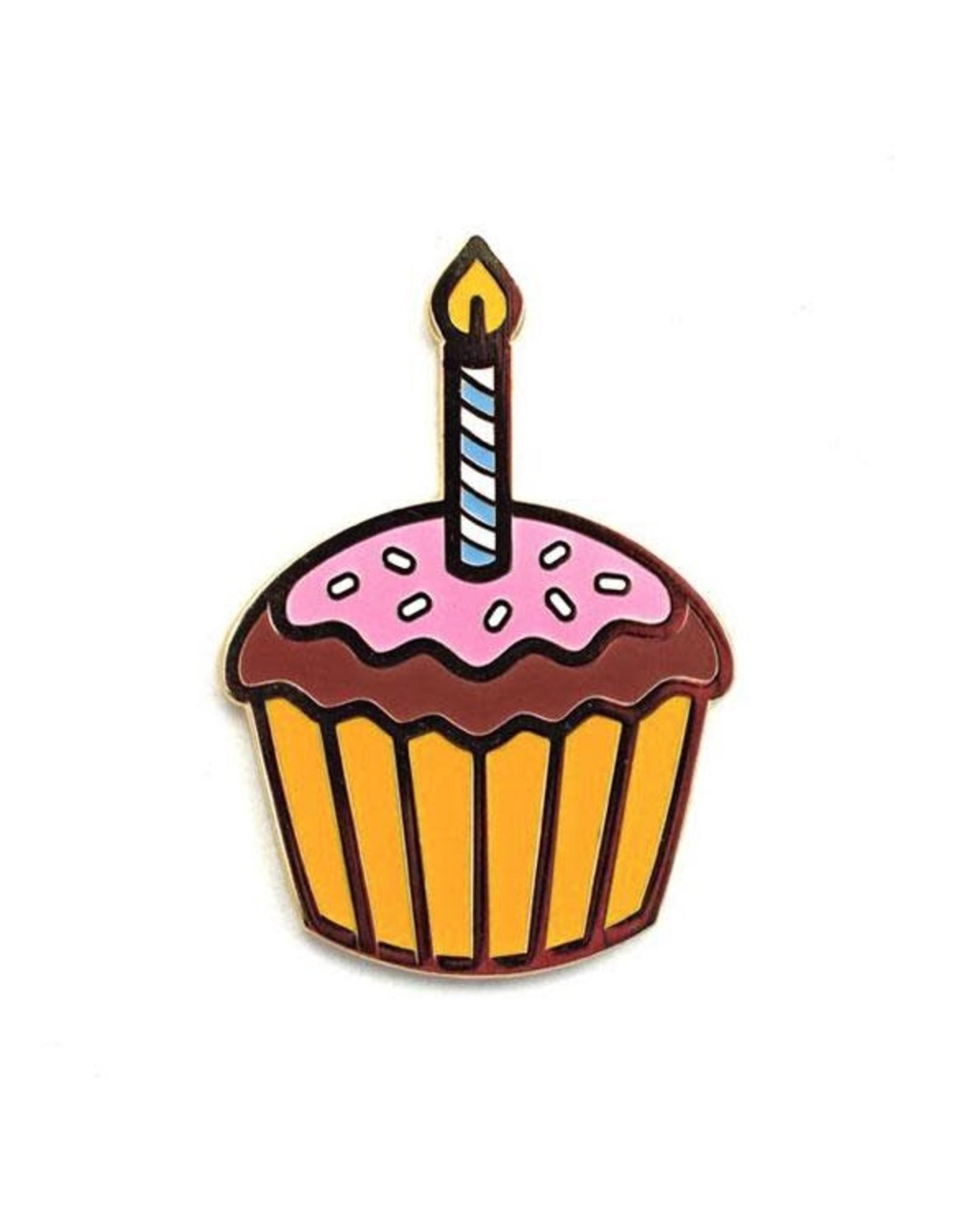 Valley Cruise Press Birthday Cupcake Greeting Card + Enamel Pin - Valley Cruise Press
