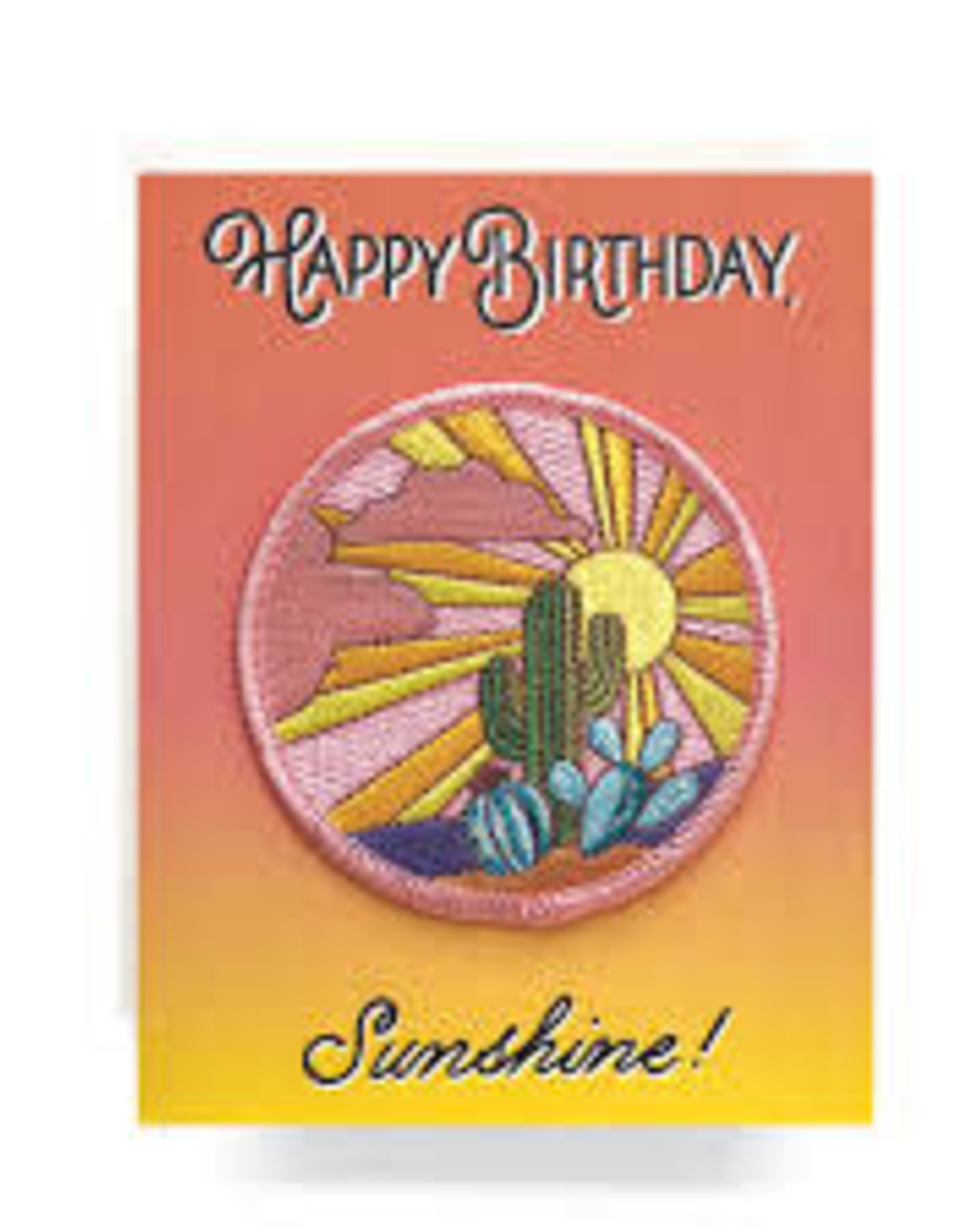 Sunshine Birthday Greeting Card with Patch - Antiquaria