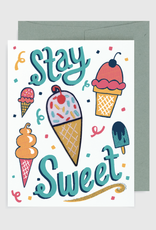 "Allison Cole ""Stay Sweet'' Greeting Card with Patch - Allison Cole"