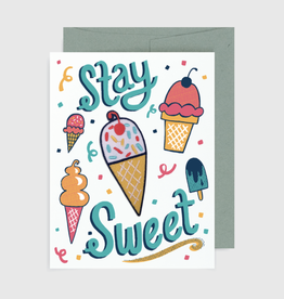"""Stay Sweet'' Greeting Card with Patch - Allison Cole"