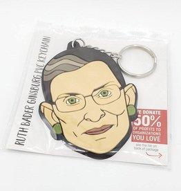 Dissent Pins RBG PVC Keychain - Dissent Pins