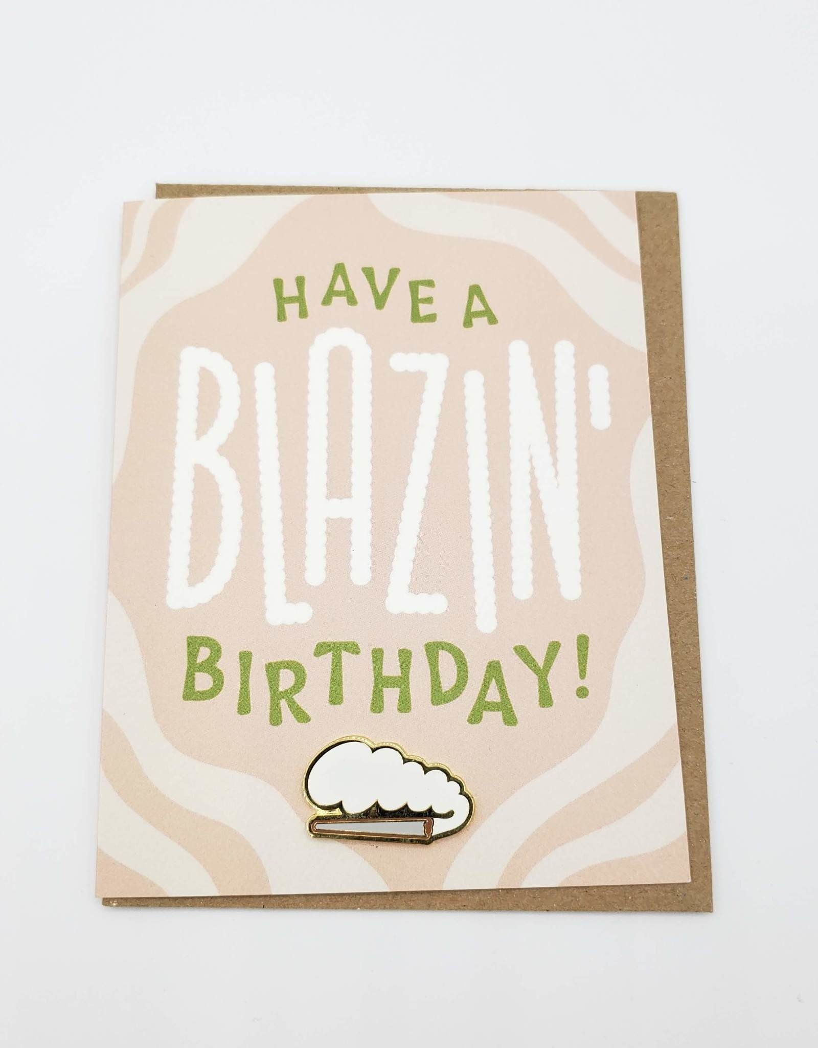 "Valley Cruise Press ""Have a Blazin' Birthday"" Greeting Card + Enamel Pin - Valley Cruise Press"