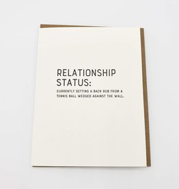 """Relationship Status'' Greeting Card - Sapling Press"