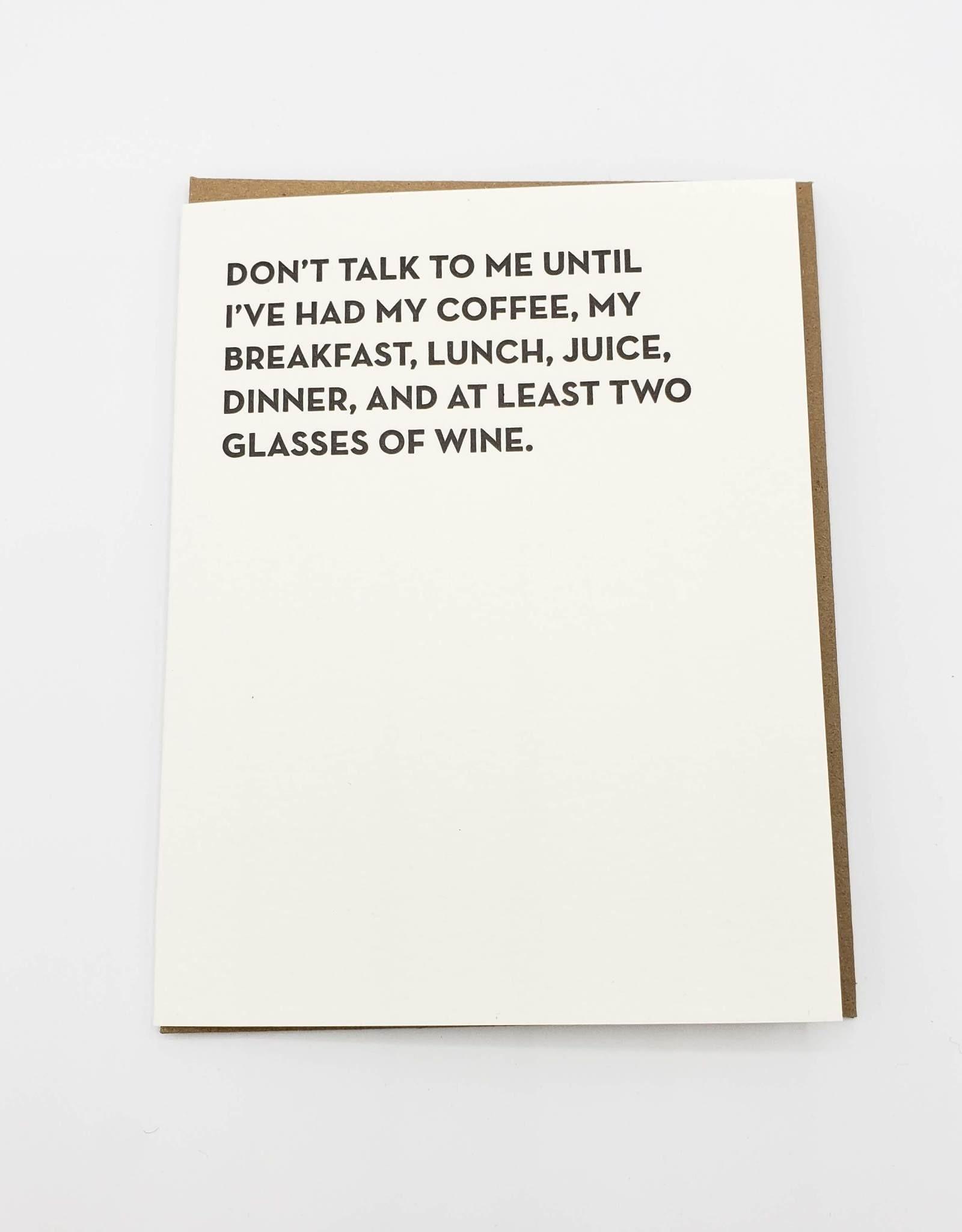 """""""Don't Talk to Me'' Greeting Card - Sapling Press"""
