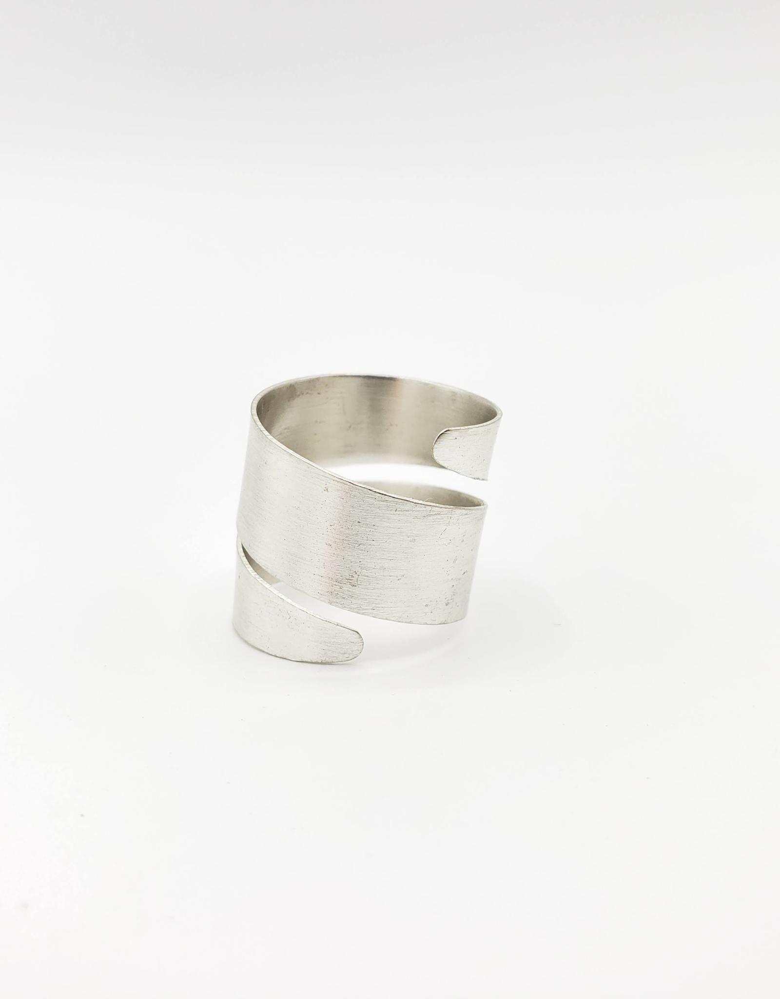 Mata Traders Spiral Ring, Brushed by Mata Traders