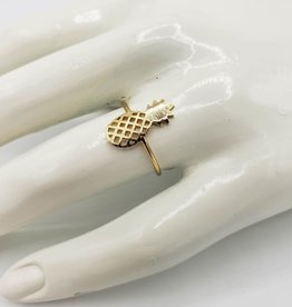 Oh, Hello Friend Pineapple Ring, Gold Plated SIZE 6 1/2