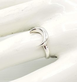Tiger Mountain Crescent Moon Ring, Sterling Silver