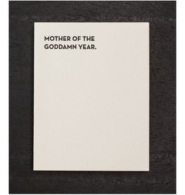 Mother of The Goddamn Year Greeting Card - Sapling Press